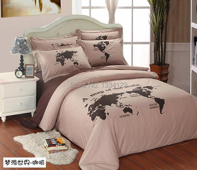 Competitive prices world map light coffee 4 pieces bedding set for competitive prices world map light coffee 4 pieces bedding set for sale publicscrutiny Image collections