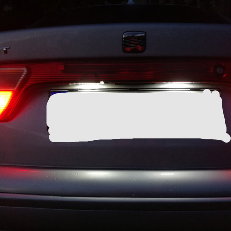 2X Auto 18 LED Placă de înmatriculare 12V Lămpie numerică albă - Faruri auto - Fotografie 2