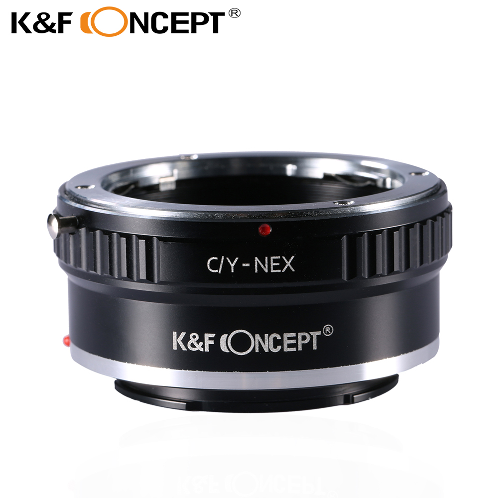 K&F CONCEPT Adapter Ring for C Y to Sony E Lens Mount Adapter for Contax Yashica C/Y CY Lens to Sony Alpha NEX E-Mount Camera new phototube to c mount camera adapter u tv1x 2