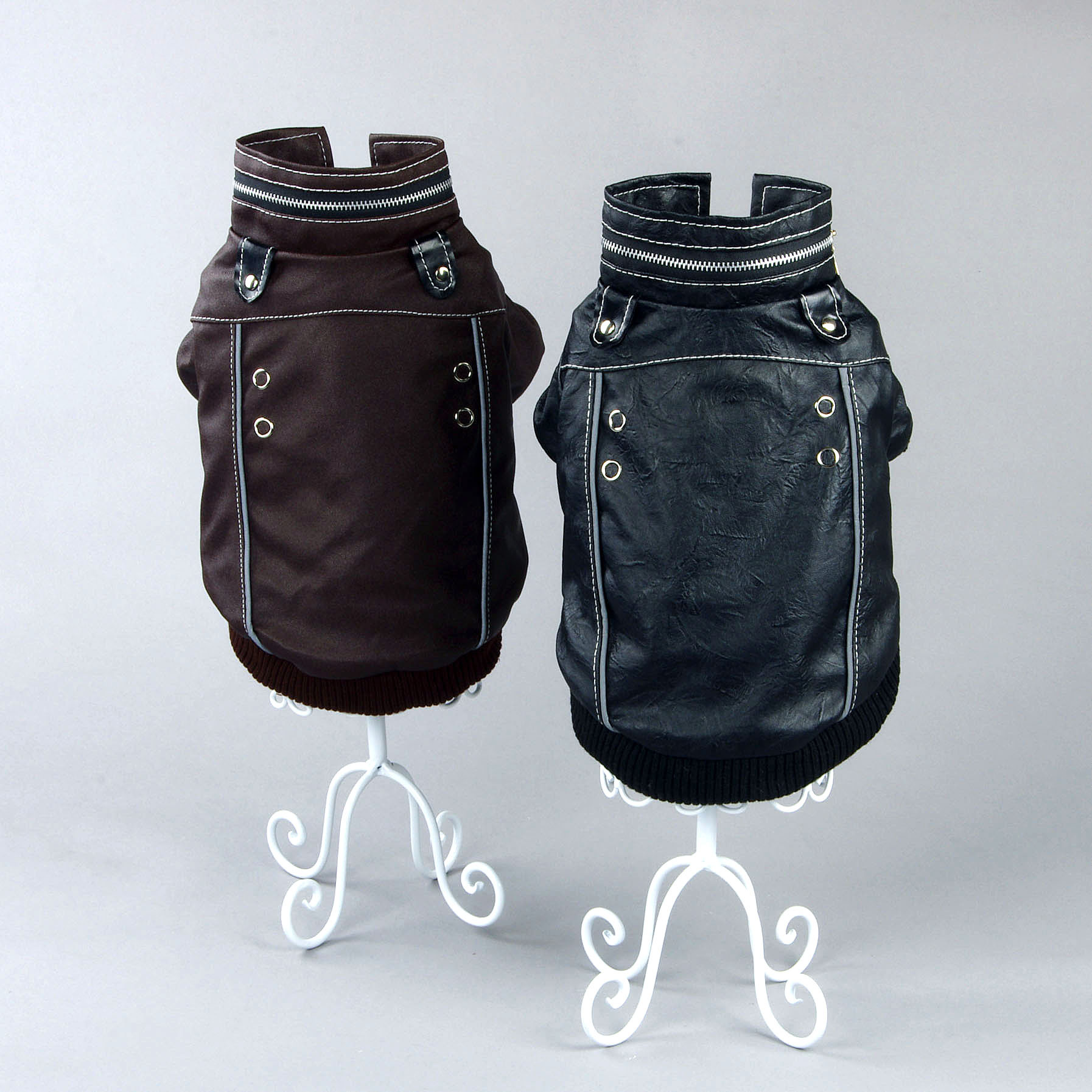 Leather jacket for dogs - Pet Clothes British Style Leather Jacket Winter Jacket Pet Clearing Price China Mainland