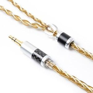 Image 2 - NICEHCK wysokiej jakości 8 rdzeń pojedyncze miedziane z kryształami posrebrzany kabel 3.5/2.5/4.4mm MMCX/2Pin dla LZ A7 KXXS TFZ NICEHCK NX7 MK3