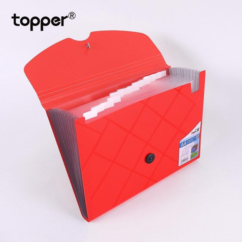 File Folder 13-layer Plastic A4 File Bag Organ Bag Briefcase Student Office Supplies Expanding Wallet