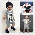 Wholesale 2016 Summer Baby Boys Girls Letter Print Short Sleeve Romper 0-3year Baby Summer Clothing