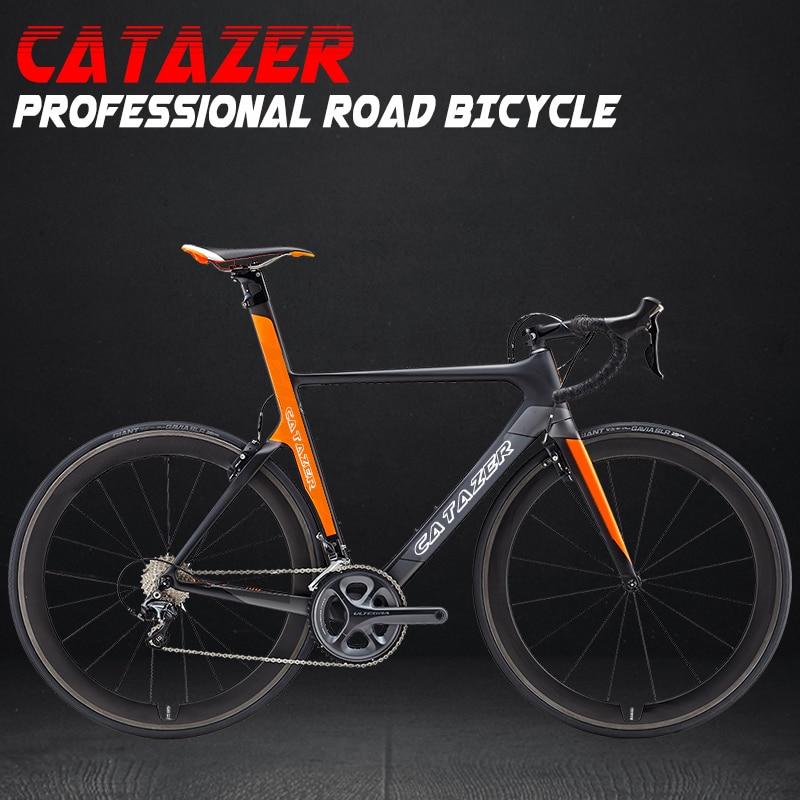 HTB1MzaCacrrK1Rjy1zeq6xalFXal - CATAZER 700C Highway Bike Tremendous Gentle T800 Carbon Body Racing Highway Bicycle Carbon Wheelset 22 Pace Skilled Highway Bike