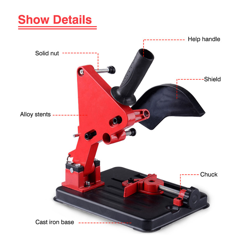 Angle Grinder Stand For 100-125 Angle Grinder Bracket Holder Woodworking Tool DIY Cutting Cast Iron Base Power Tools Accessories (3)