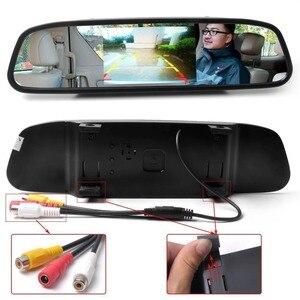 Image 4 - Viecar سيارة مرآة الرؤية الخلفية رصد مع للرؤية الليلية عكس كاميرا الرؤية الخلفية 4.3 بوصة شاشة عرض مرآة رصد