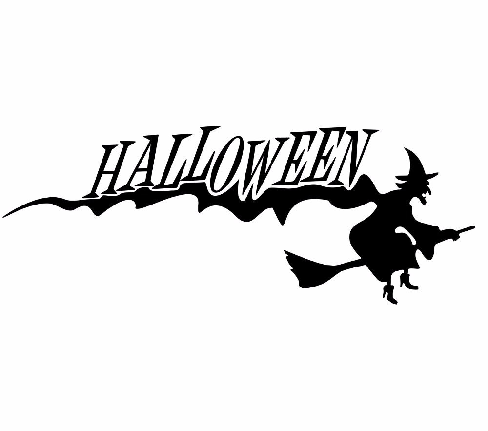 AWOO Wall Stickers Halloween Witch Decor Decals For Wall Decal Wall Murals  Art Decals Kids Room