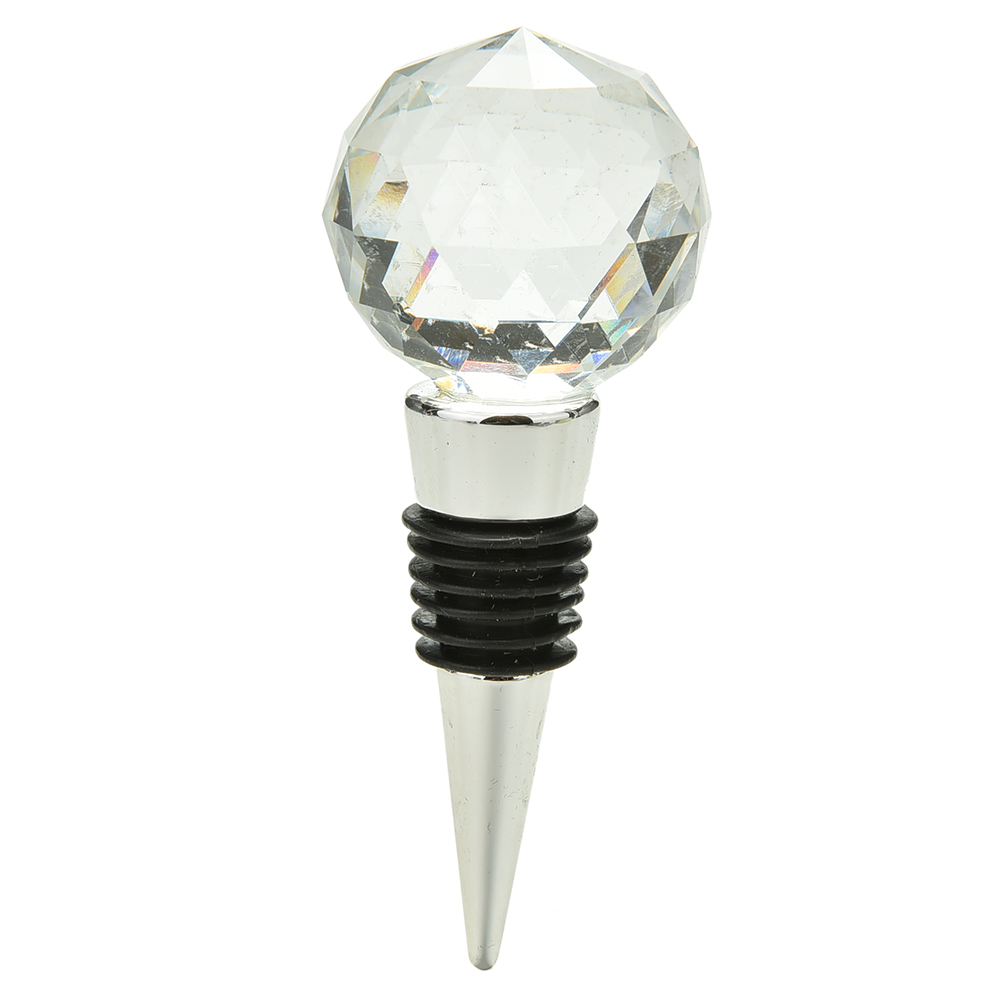 Wine Stopper Twist Wedding Favors Gifts Round Crystal Ball Red Wine ...