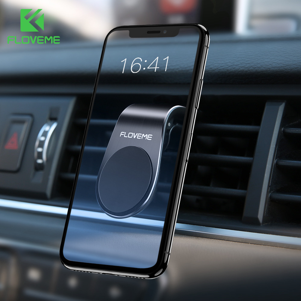 FLOVEME Magnetic Car Phone Holder For Phone In Car Mobile Support Phone Mount Stand For Tablets And Smartphones Suporte Telefone