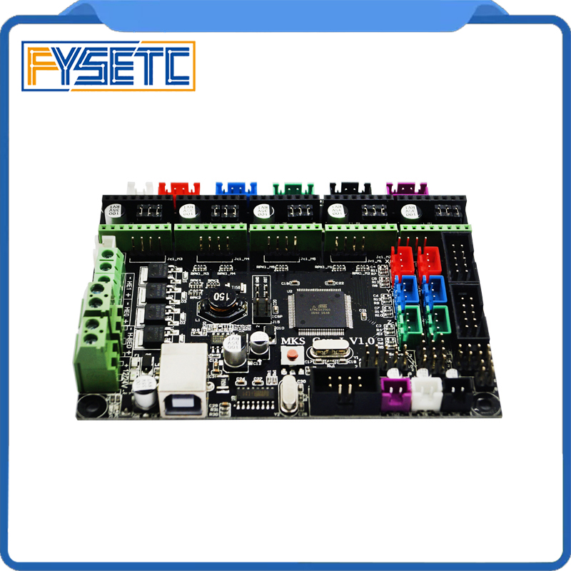 MKS Gen l v1.0 Controller Board MKS Gen-L V1.0 Integrated Mainboard Support A4988/DRV8825/TMC2100 For Tornado/Tarantula 3D Print 4 layers pcb controller board mks gen v1 4 integrated mainboard compatible ramps1 4 mega2560 r3 support a4988 drv8825 tmc2100