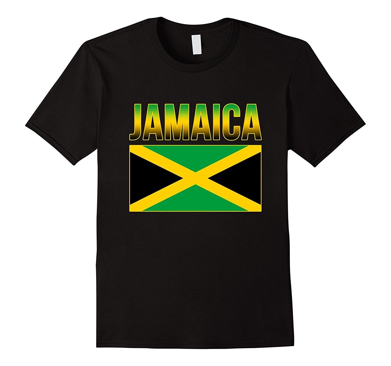 Ямайский Национальный страна Caribbean футболка Классические хлопковые мужские круглый вырез горловины с коротким рукавом тройник Прохладный ...
