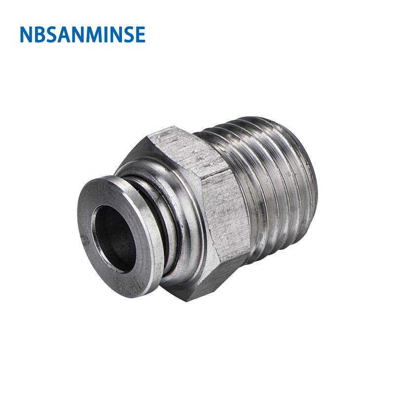 NBSANMINSE 5Pcs lot SSPC M5 1 8 1 4 3 8 1 2 SS316L Fitting Pneumatic