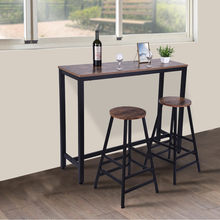 Household Pub Table Bar Stool Bistro Square Leg Dining Kitchen Pub Chair Furniture Bar Furniture Sets Kitchen Nook Dining Room(China)