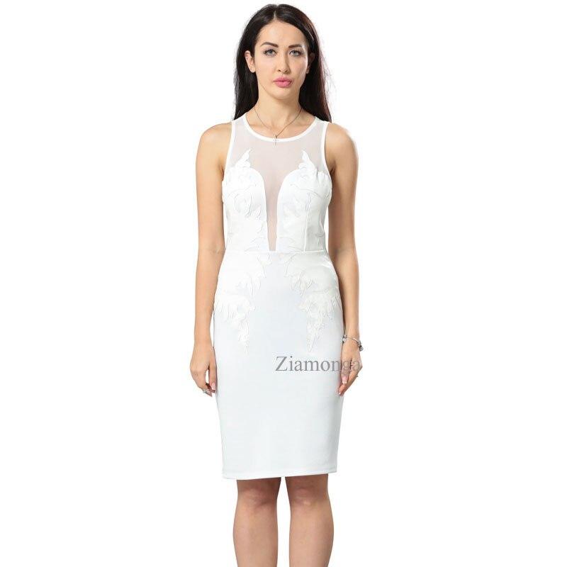 Bandage White Casual Pencil Midi Dress