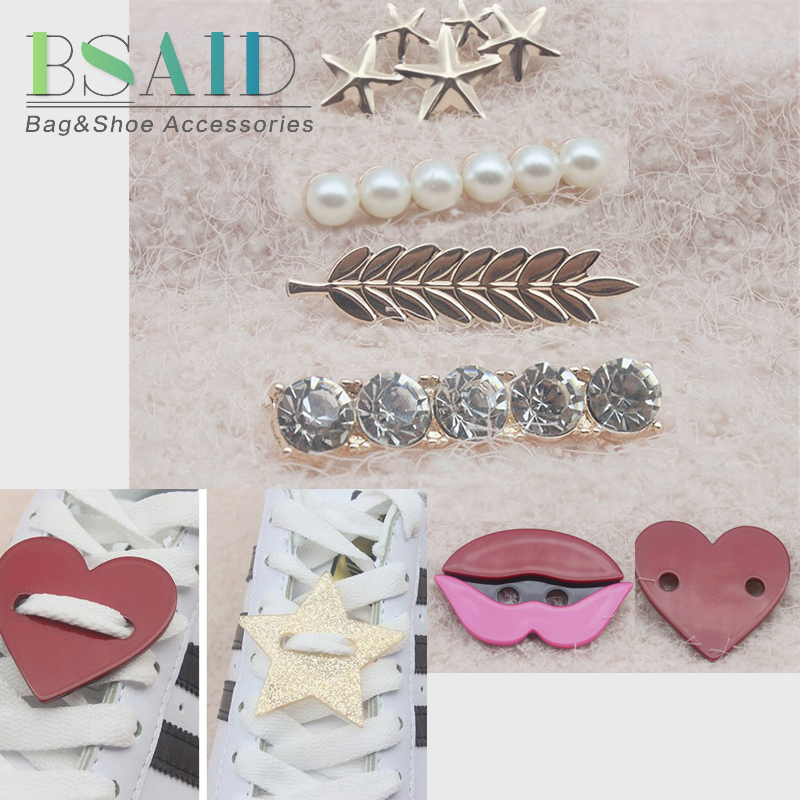 BSAID 1 Pair Shoelaces Decoration Women Shoe Buckle Crystal Star Smile Cartoon Pearl Shoe Decoration Kid Adult Shoes AccessoriesBSAID 1 Pair Shoelaces Decoration Women Shoe Buckle Crystal Star Smile Cartoon Pearl Shoe Decoration Kid Adult Shoes Accessories