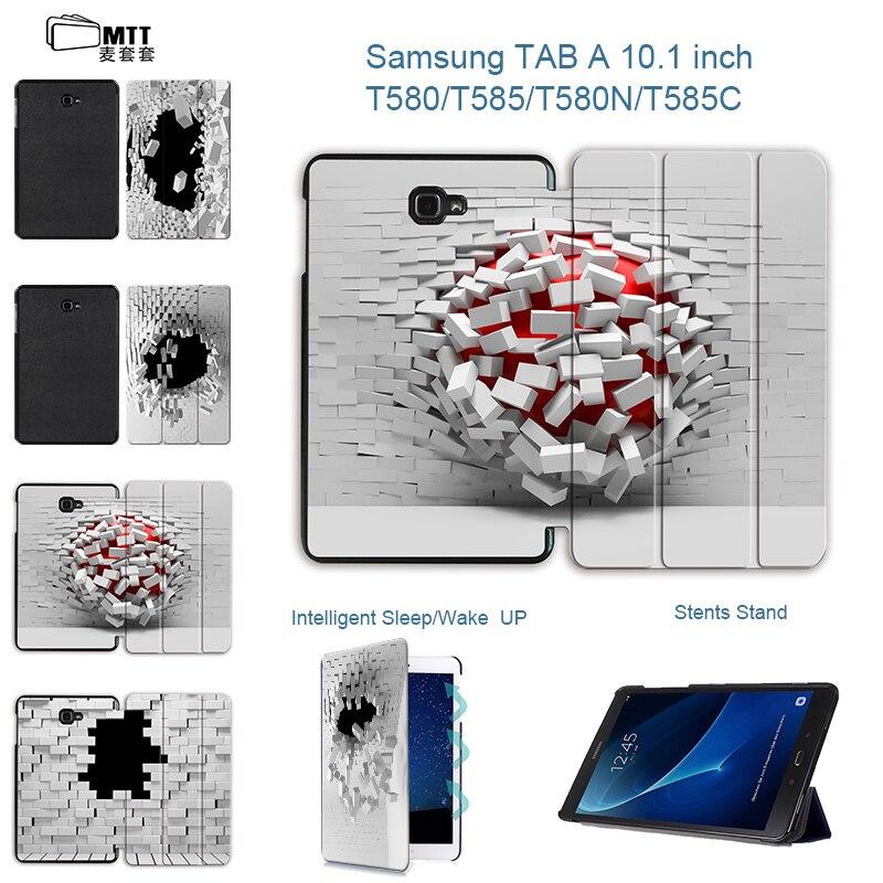MTT Fashion Blasting wallhole Case For Samsung Galaxy Tab A A6 10.1 2016 T585 T580 T580N Flip PU leather stand tablet Cover luxury flip pu leather case cover for samsung galaxy tab a 10 1 2016 t580 t585 t580n t585n tablet stand cover with card slots