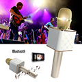 2-in-1 wireless Portable microphone with bluetooth speaker home Karaoke singing condenser microphone Support iphone 6 6S Samsung