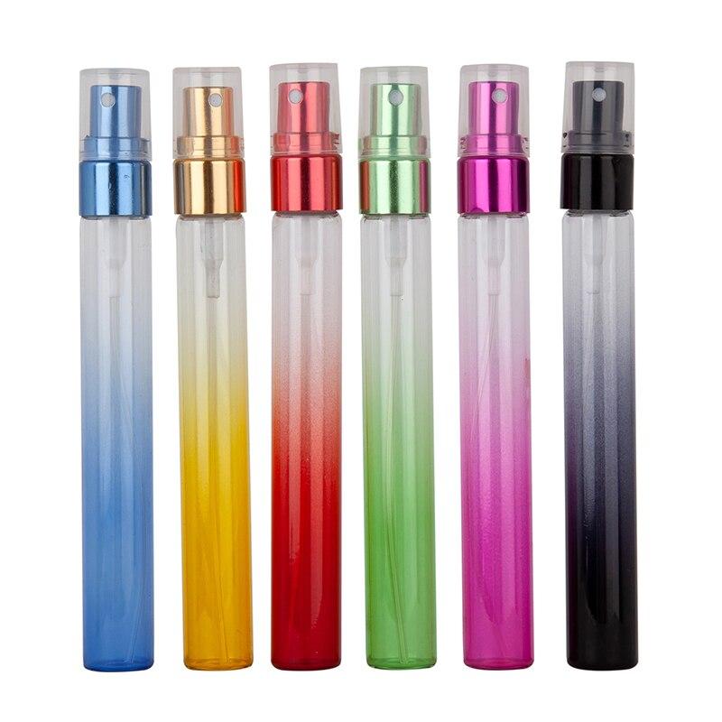 6Pcs 10Ml 6colors Mini Sample Promotion Refillablel Glass Spray Travel Perfume Bottle, Glass Perfume Vial 10cc Parfum Bottles