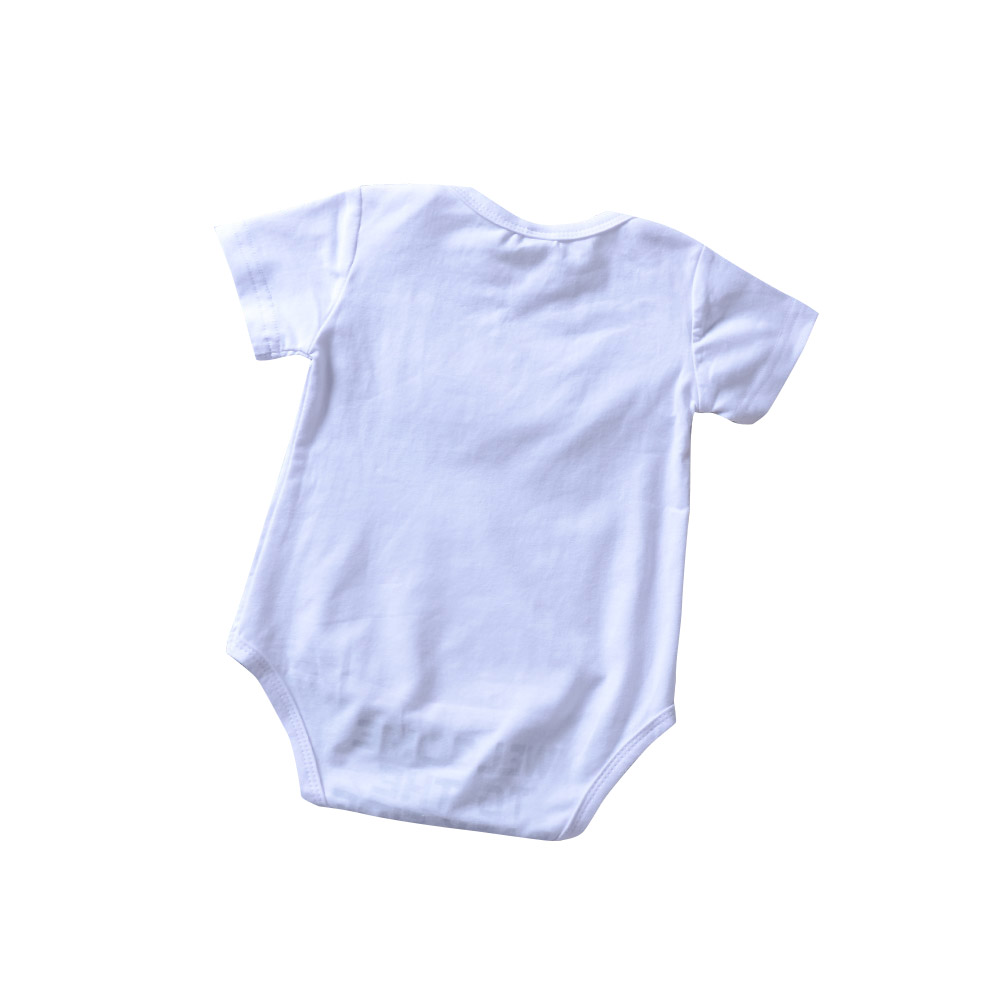 Odzież dziecięca Witaj Dark Side Cartoon Print Romper Biały - Odzież dla niemowląt - Zdjęcie 2