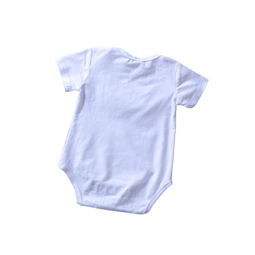 Baby Babykleding Welkom Dark Side Cartoon Print Romper Wit Jumpsuit - Babykleding - Foto 2