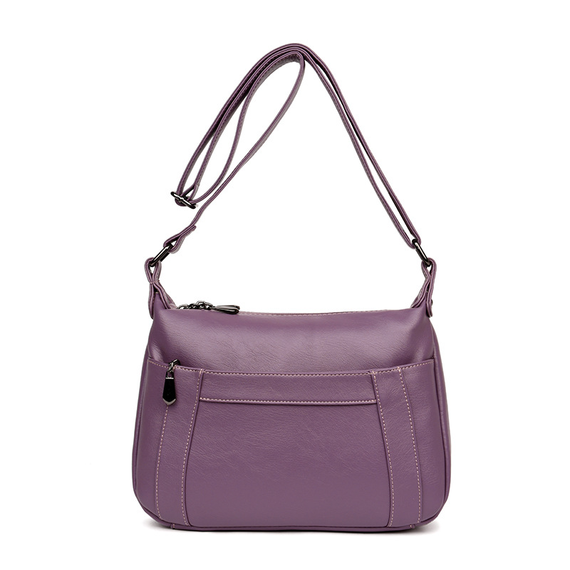 Women\'S Genuine Leather Handbags All-Match Shoulder Crossbody Bags Messenger Bag Simple Women Bags