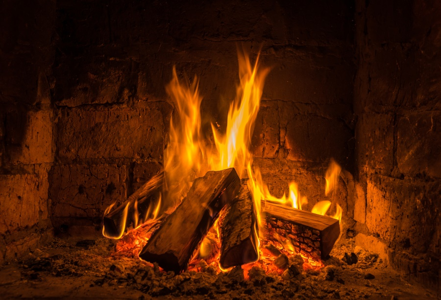 Laeacco Wood Fire Flame Burning Brick Fireplace Pattern Wallpaper Photography Backdrops Photo Backgrounds Photocall Photo Studio
