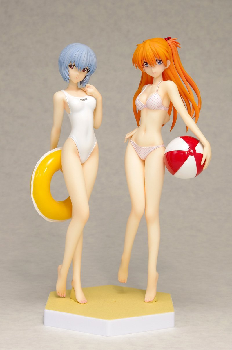 Neon Genesis Evangelion Rei Ayanami Swimsuit Ver.1/8 scale painted EVA Asuka Bikini Girl PVC Action Figure Collectible Model Toy shfiguarts batman injustice ver pvc action figure collectible model toy 16cm kt1840
