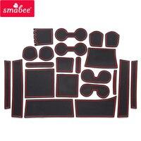smabee Gate slot pad For Mitsubishi DELICA D:5 d5 Interior Door Pad/Cup Non slip mats 22pcs RED BLACK WHITE