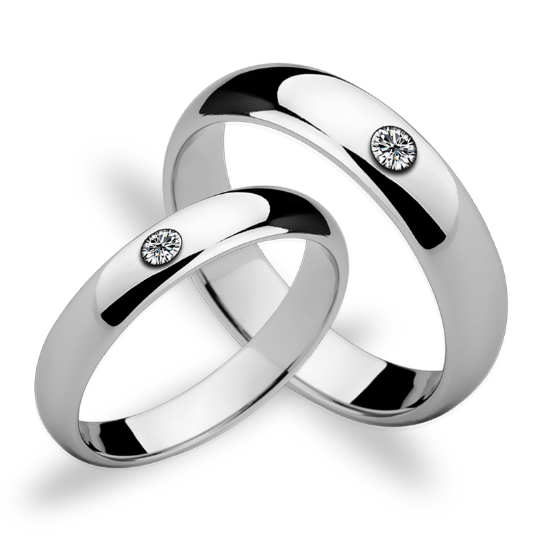 Romantic High Polished Tungsten Wedding Rings Set with CZ Stones for Couples 3.5mm/5mm Width Free Shipping Size 4-11