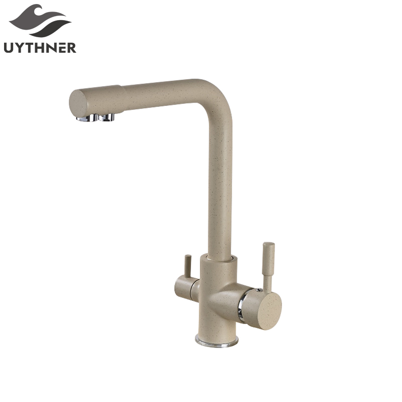 Newly Arrival US Free Shipping Deck Mounted Kitchen Faucet Mixer Painting Faucet Tap