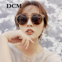 DCM New Retro Round Sunglasses Women Brand Design Female Sun