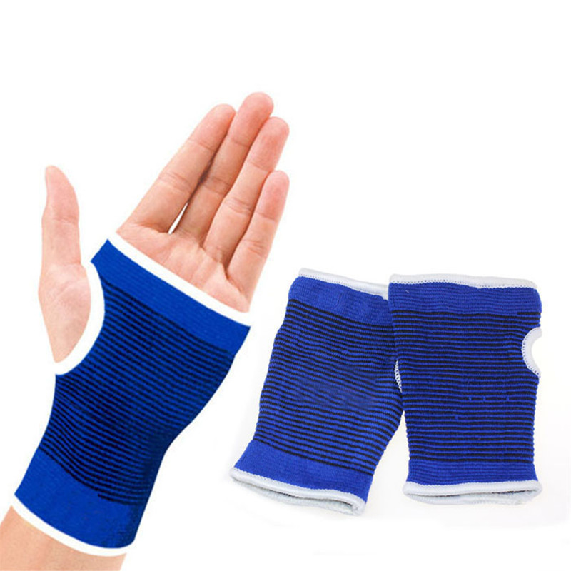 High Quality Support Wrist Gloves Hand Palm Gear Protector Elastic Brace Gym Washable Outdoor Sports Cycling Gloves Blue M15