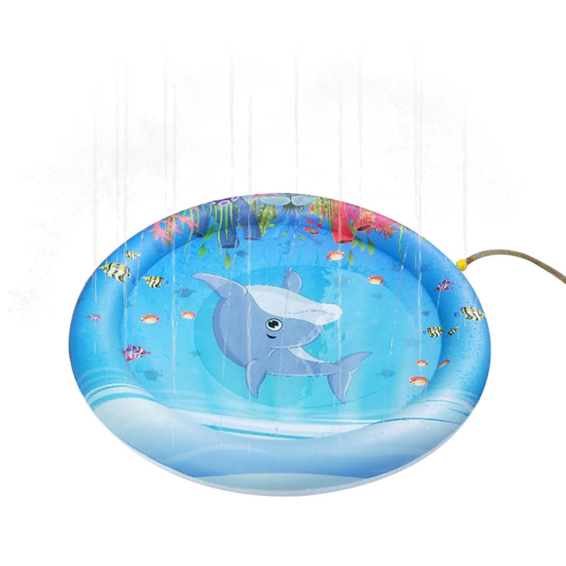 Newly Portable Kids Water Sprinkler Splash Play Mat Shallow Toddler Pool Bathroom Outdoor Pad Swimming Party Supply Beach Toys