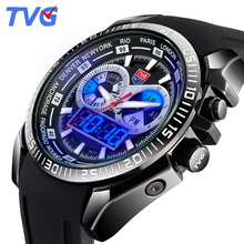 TVG Marca de Lujo Reloj Militar Hombres de Cuarzo Analógico Correa de Silicona Reloj Hombre Relojes Deportivos Militar Reloj Relogio masculino