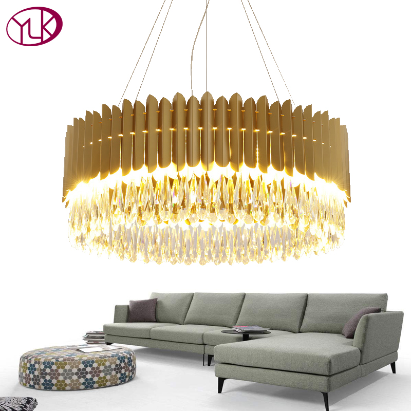 Youlaike Modern Gold Chandelier Lighting Luxury Living Room Hanglamp Dining Room Decoration Suspension Crystal Lustre Lamp modern crystal led chandelier gold luxury lustre e14 8 bulbs included crystal ball fixture for restaurant living room lamp