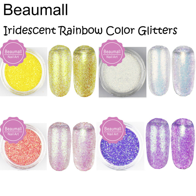 2.5g/pot,0.2mm 008 Size Iridescent Pink With Rainbow Light Color ...