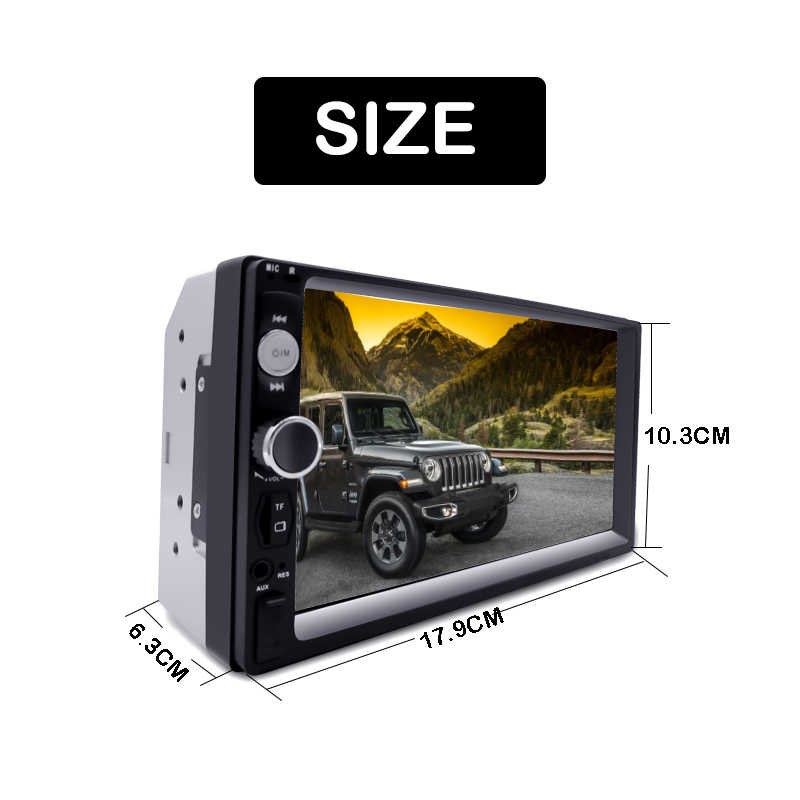 "7 ""HD Autoradio Multimedia Speler 2 Din Auto Radio 2DIN Touch Screen Auto Audio Auto Stereo MP5 Bluetooth USB TF FM Camera Android"