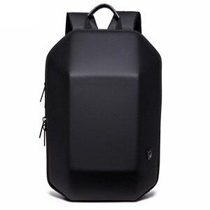 Image 3 - Mochila antirrobo de concha dura impermeable para hombre, bolso de viaje, portátil informal, creativo, Alien negro, escolar, para adolescentes
