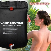 Aolikes Shower Bag Camping Water Bag Solar Energy Heated Outdoor Travel