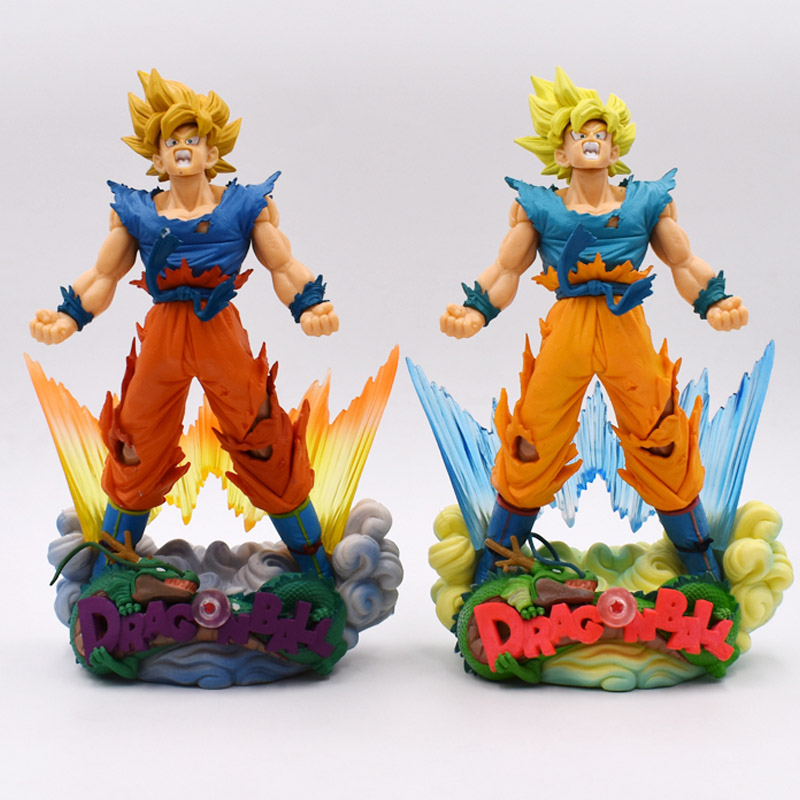 2 Styles Anime Dragon Ball Z Action Figure Super Master Stars Diorama SMSD The Son Goku PVC Dragonball Super Saiyan Doll 24 cm