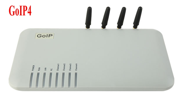 GOIP4 GSM VoIP Gateway (IMEI Changeable, 4 SIM Card, SIP & H.323, VPN PPTP) SMS / for IP PBX