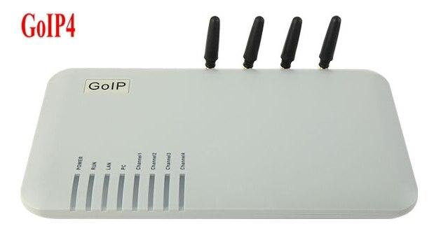 GOIP4 gsm voip-шлюз (с заменяемым индивидуальным номером IMEI, 4 ядра, две SIM, SIP и H.323, VPN PPTP) SMS/для ip-атс