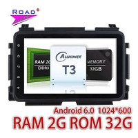 TOPNAVI 2G 32GB Android 6 0 Car Media Center GPS Navigation For Honda Vezel 2015 Stereo