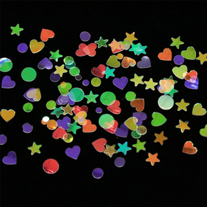 Image 5 - 1pcs Nail Glitter Flakes Mix Star Butterfly Moon Heart Round Symphony Sequin Pigment Nails Art Powder Holographic Manicure BE680