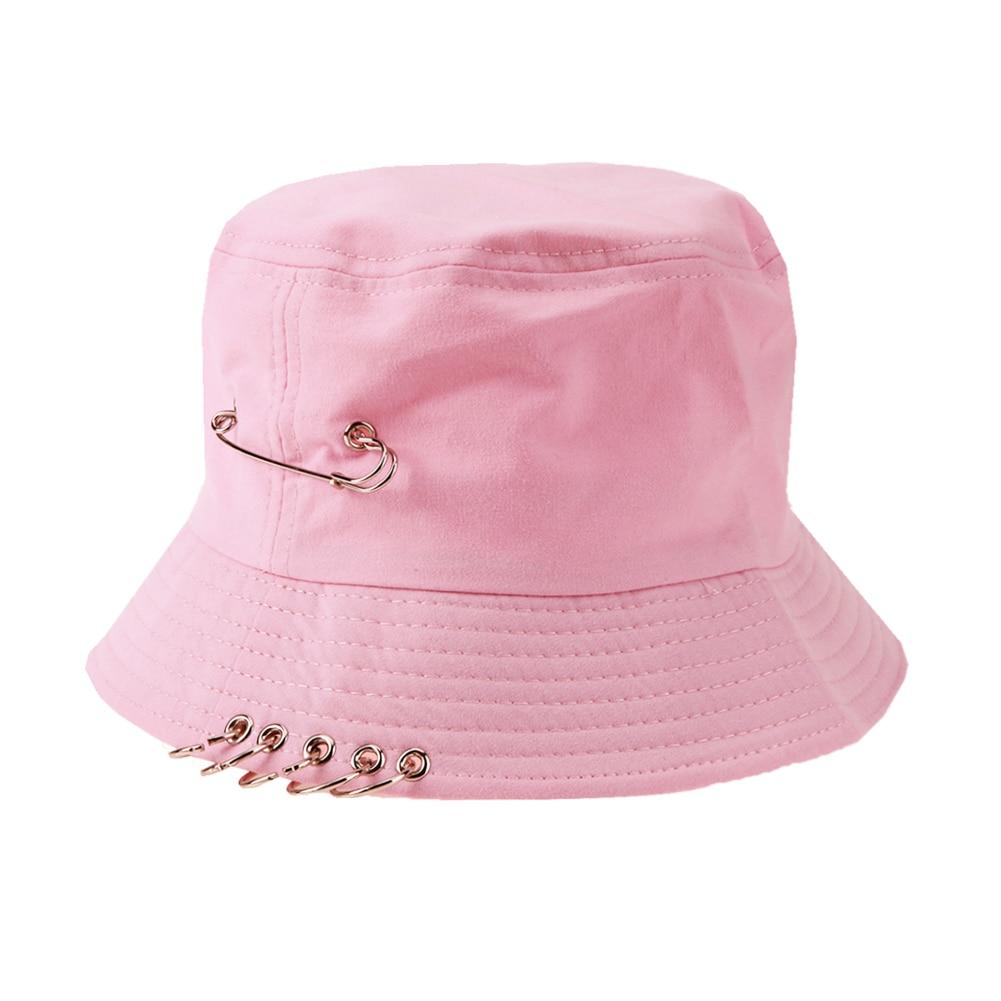 Lipat Memancing Topi Nelayan Outdoor Berburu Keren Unisex Besi Cincin Ember  Topi Musim Panas Musim Gugur Warna Solid Memancing Berjemur Hat di  Keranjang ... d9566fff78