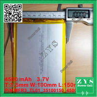 Safety Packing (Level 4) 1pcs 3.7V,4500mAH (polymer lithium ion battery) Li ion battery for tablet pc 7 inch 8 inch 9inch 351001