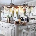 DIY винтажный Ретро Подвесной Потолочный подвесной светильник в виде бутылки вина светодиодный светильник для бара, столовой, ресторана, кух...
