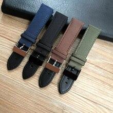 Correa de reloj de cuero de nailon para Breitling, banda de 22mm, negro, azul, verde marrón, Avenger mundial/NAVITIMER bracelet