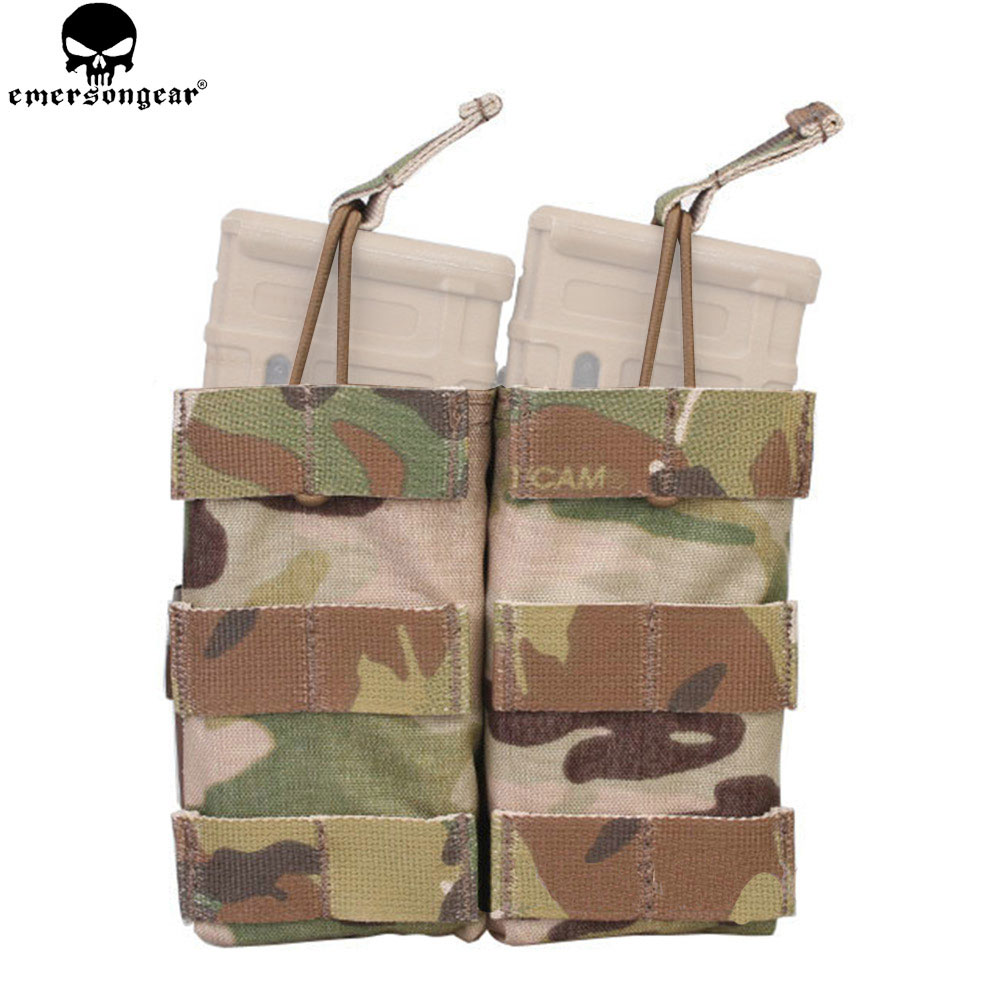 EMERSONGEAR Double Open Top 5.56 Mag Pouch Tactical Modular Molle Magazine Pouch For Tactical Hunting Multicam Pouch EM6354