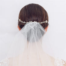 1Pc Trendy Hair Jewelry Head Accessories Women Floral Crystal Rhinestone Forehead Headband Bridal Head Chain Wedding Headpieces(China)